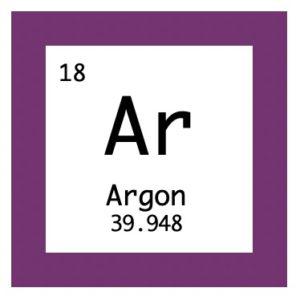 Argon Edelgas Periodensystem