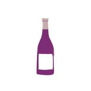 Weinflasche Skizze Lila Weinluftfarbe